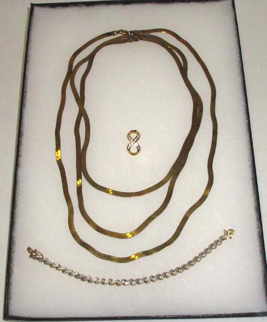 Sterling Vermeil 5pc. Jewelry