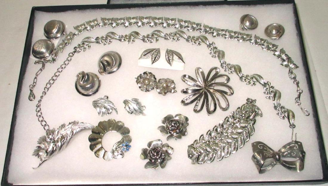 """Pretty """"Coro"""" Silvertone 14pc. Jewelry Collection"""