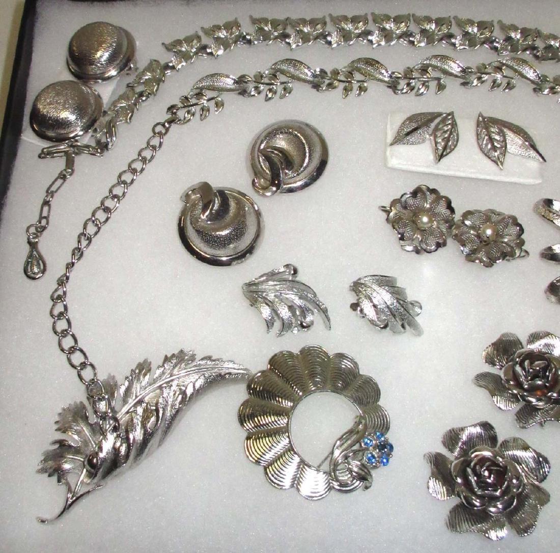 """Pretty """"Coro"""" Silvertone 14pc. Jewelry Collection - 2"""