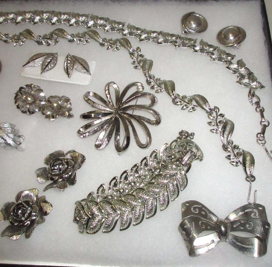 """Pretty """"Coro"""" Silvertone 14pc. Jewelry Collection - 3"""