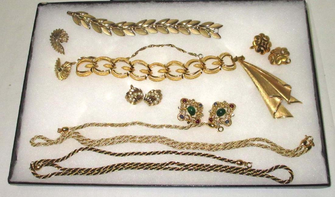 "11pc. ""Trifari"" Goldtone Jewelry Collection"