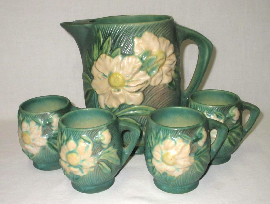 5pc Roseville Pottery Water Set