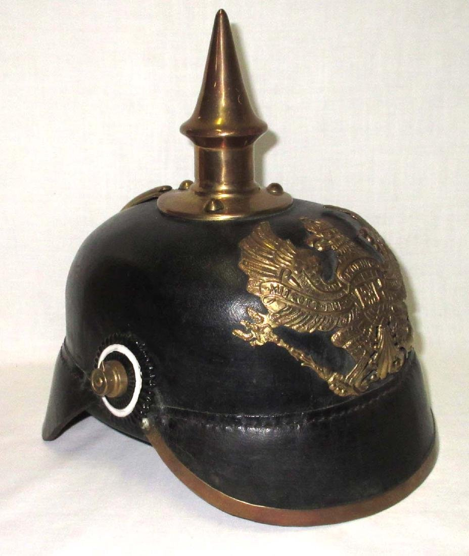 Leather Military Spike Helmet