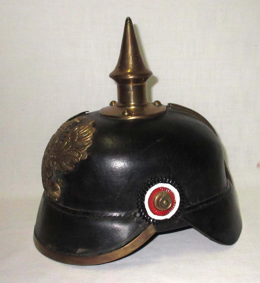 Leather Military Spike Helmet - 2