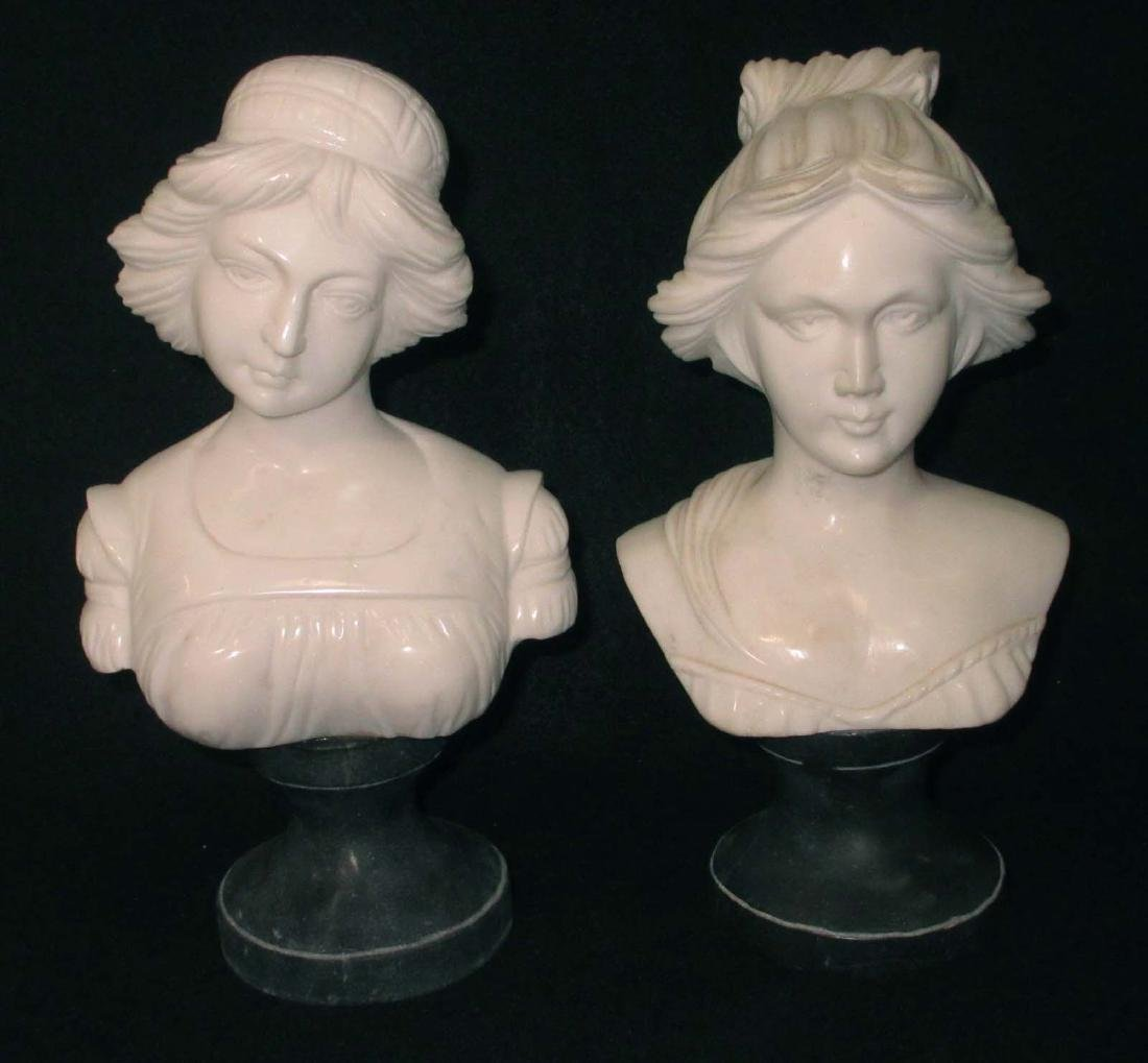 2 Modern Marble Bust