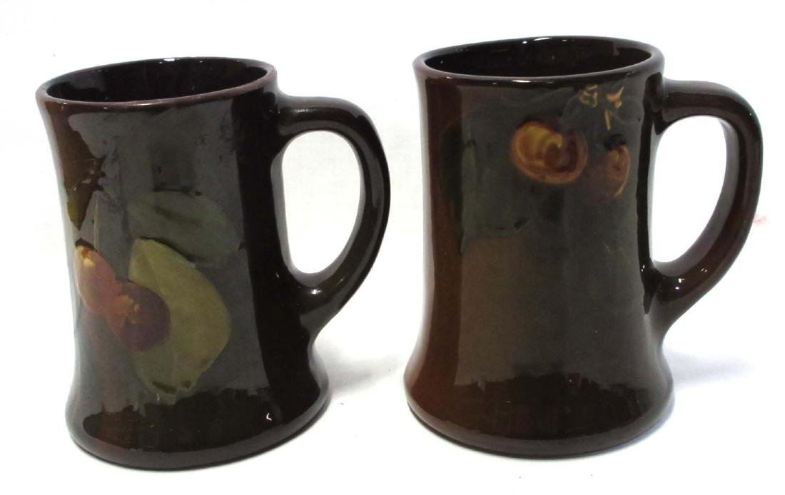 2 Unmkd Art Pottery Mugs
