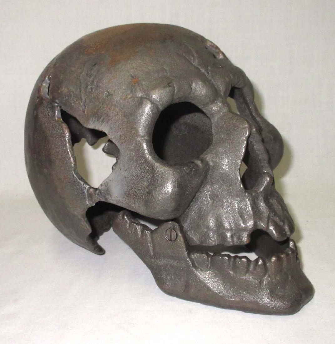Modern Life Size Cast Iron Skull