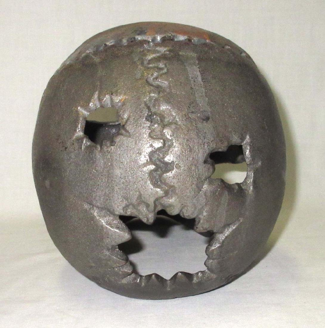 Modern Life Size Cast Iron Skull - 3