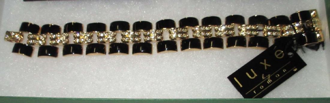 """""""LUXE"""" Bracelet & 2 Earrings. N.O.S. - 2"""
