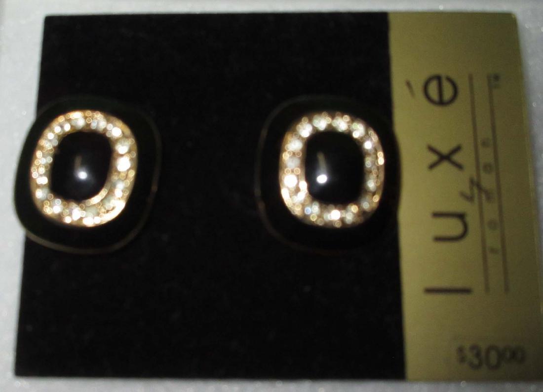"""""""LUXE"""" Bracelet & 2 Earrings. N.O.S. - 3"""