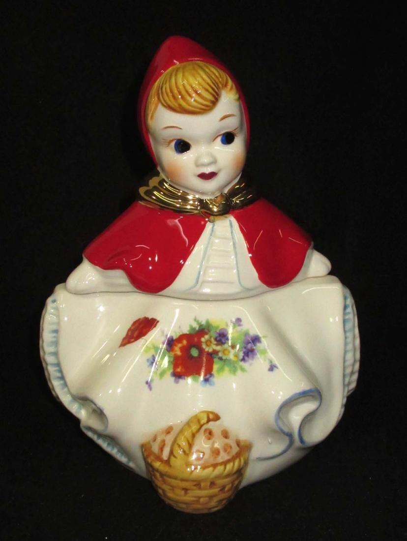 Modern Little Red Ridding Hood Cookie Jar