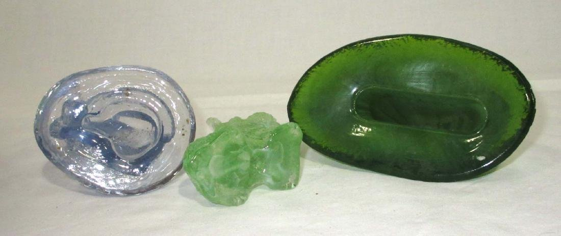 3 Glass Animal Paperweights - 2