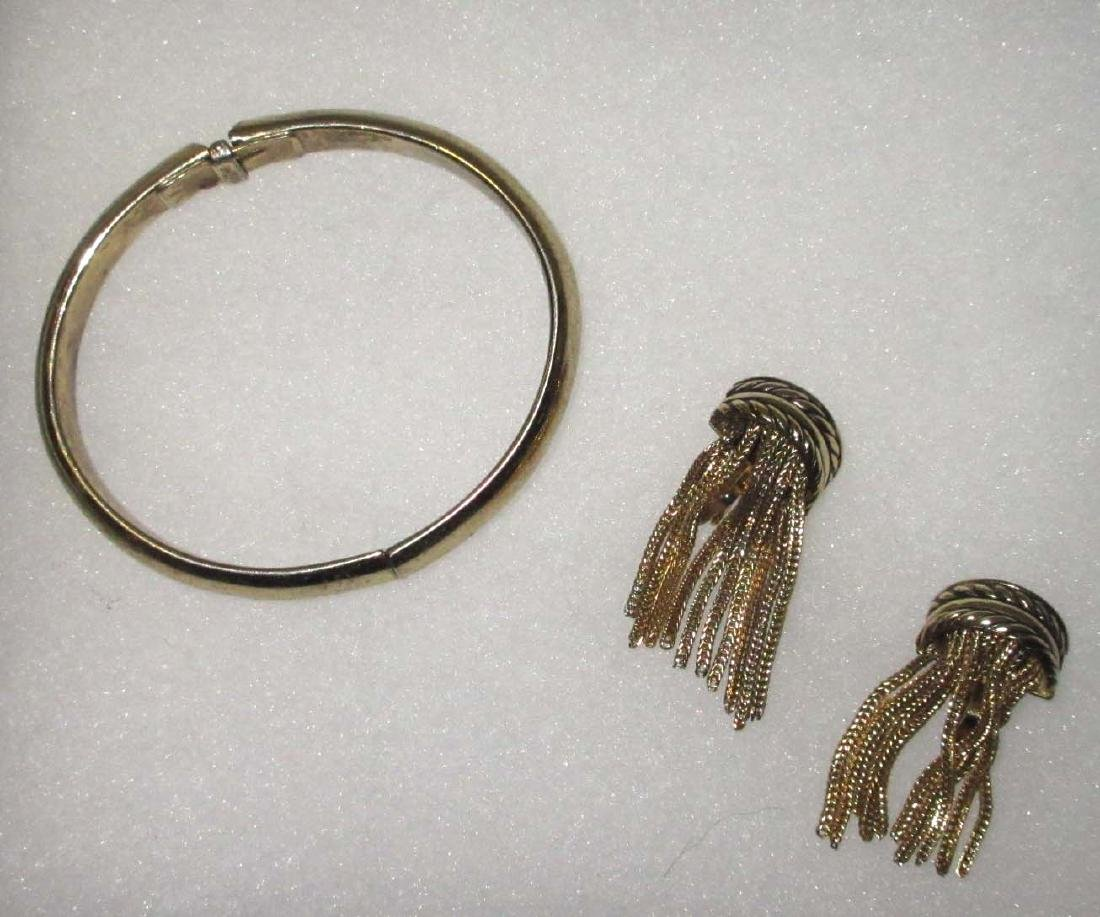 "2pc. ""Whiting & Davis"" Bracelet & Earrings"
