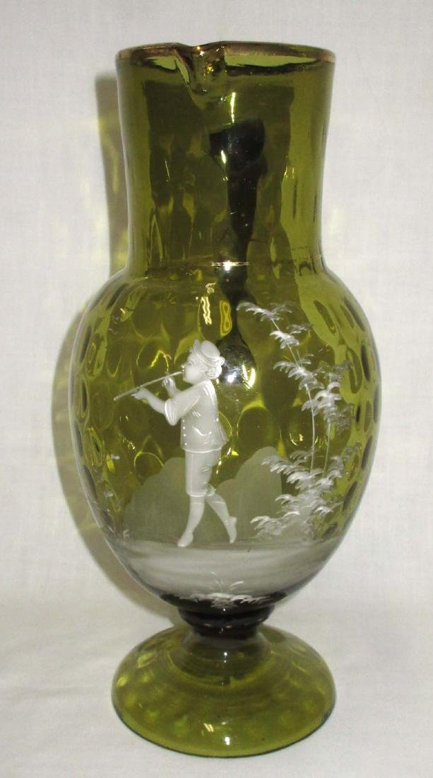Mary Gregory Pedestal Pitcher