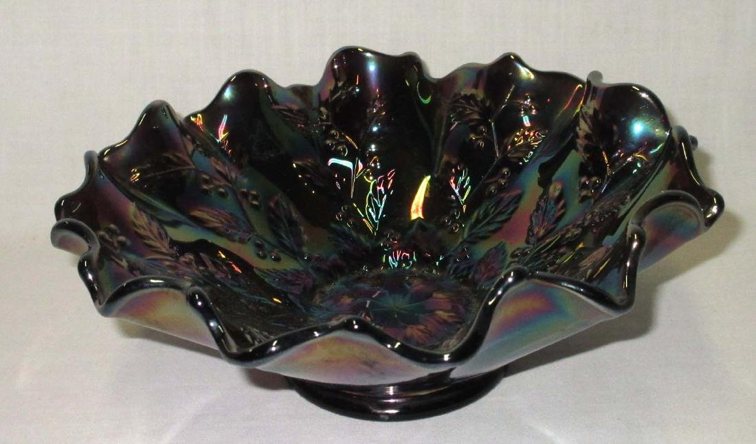 "Fenton Carnival Glass Bowl ""Holly Springs"""