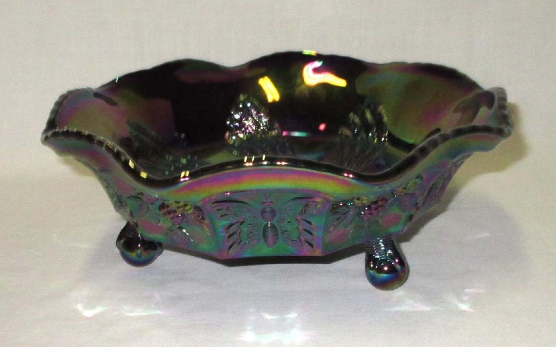 Fenton Carnival Glass Footed Bowl