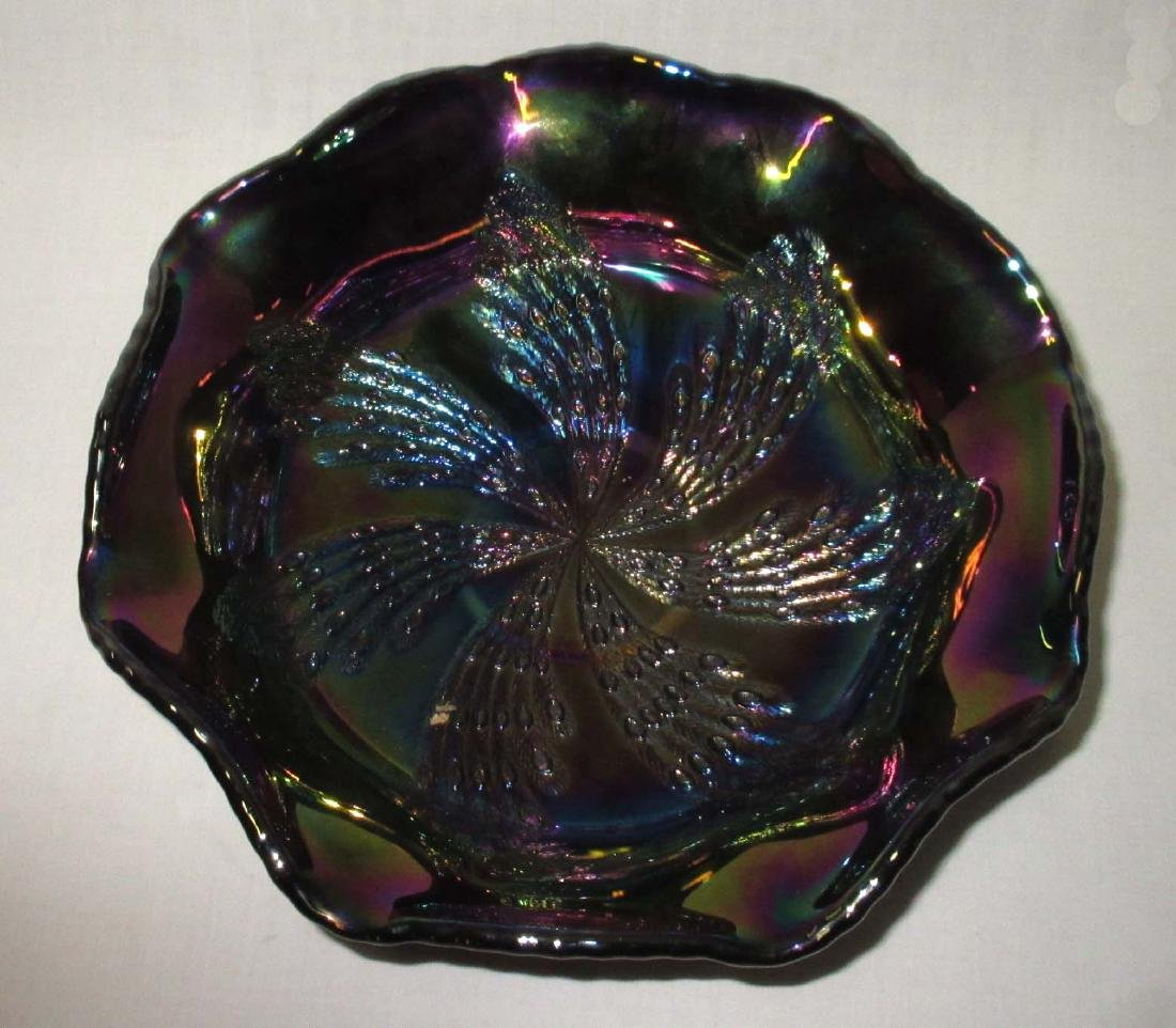 Fenton Carnival Glass Footed Bowl - 2