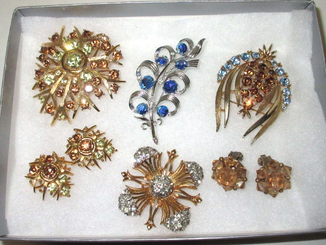 """Lisner"" 6pc. Striking Rhinestone Jewelry"