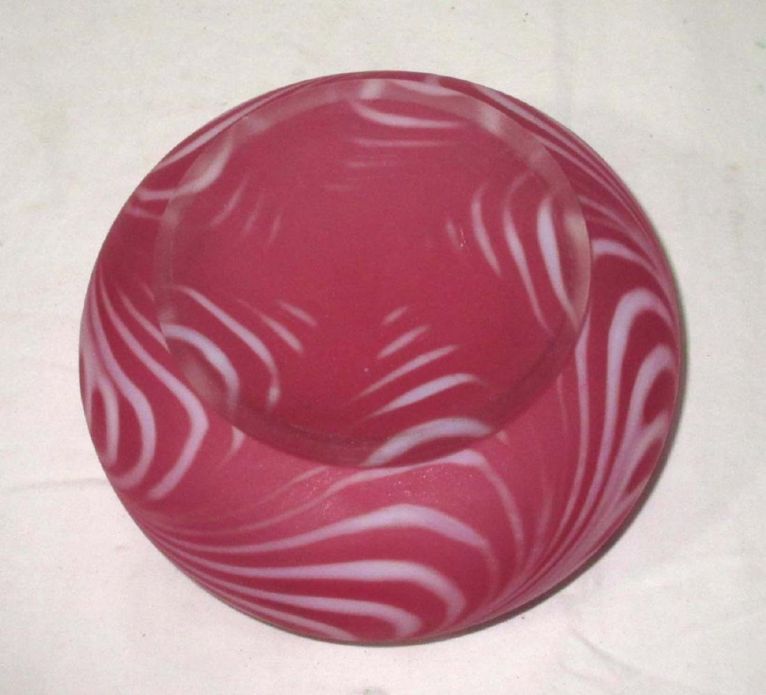 Cranberry Frosted Swirl Bowl - 2