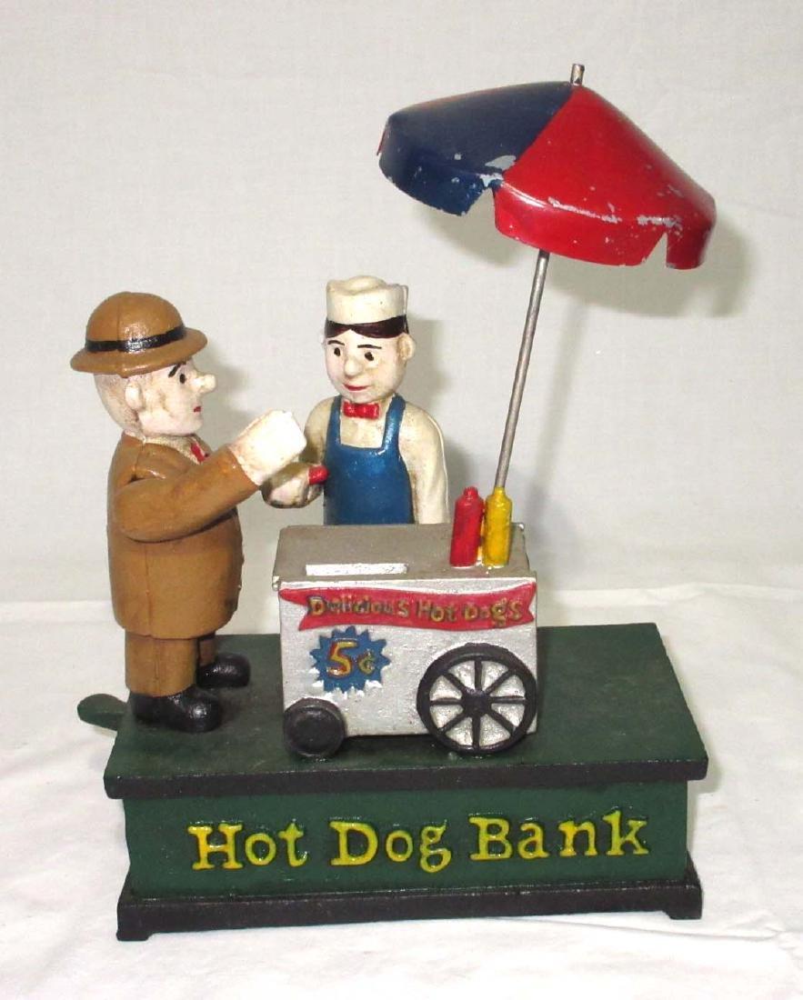 Modern Cast Iron Hot Dog Bank