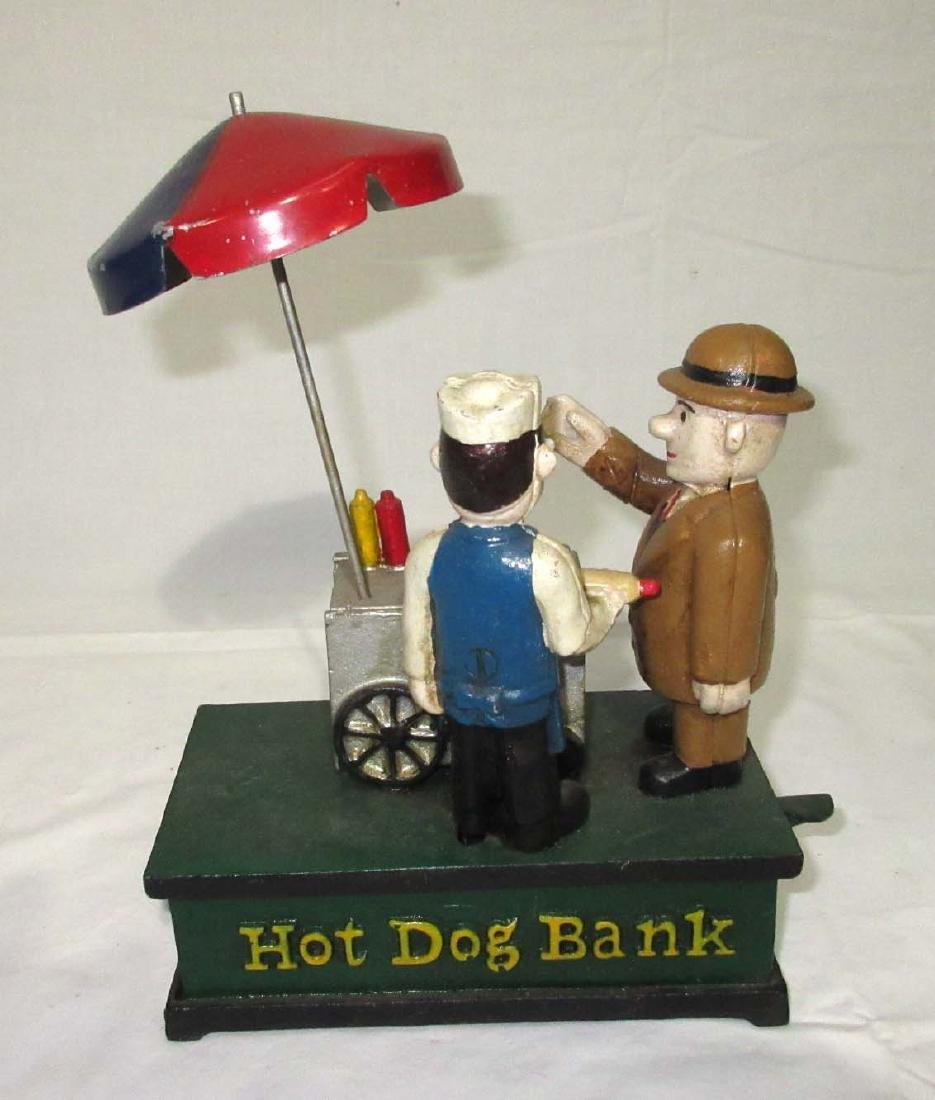 Modern Cast Iron Hot Dog Bank - 3