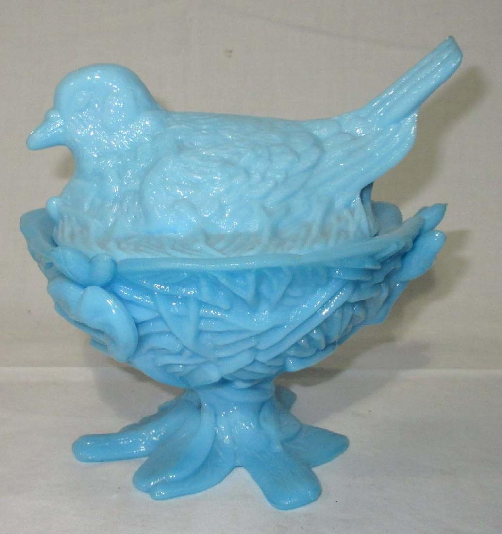 Bird on Nest Covered Dish - 2