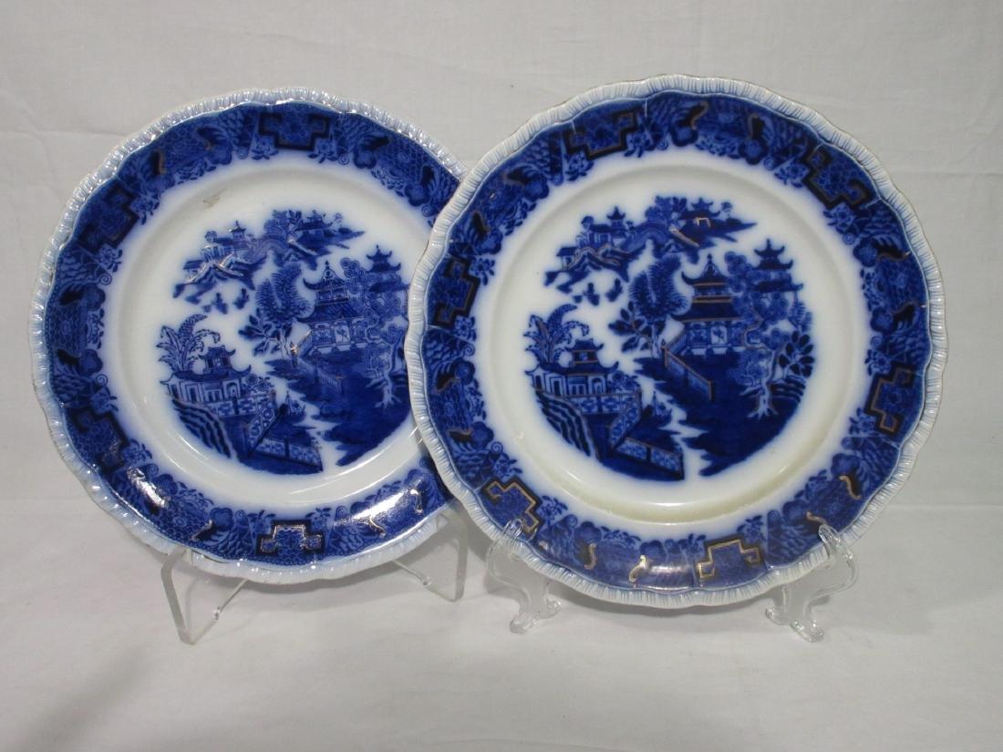 2 Flow Blue Plates