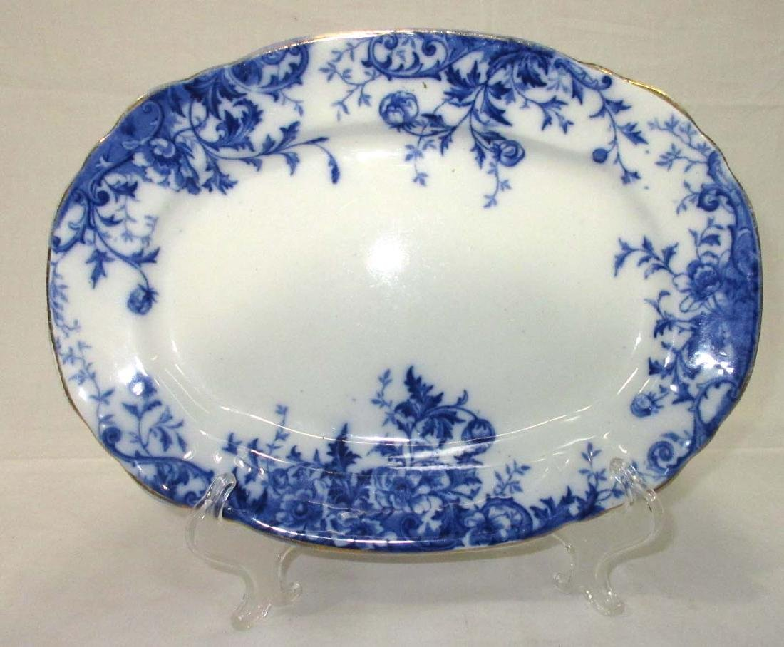 "Flow Blue ""Windflower"" Platter"
