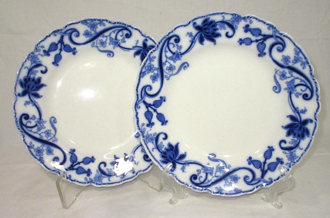 "2 Flow Blue ""Johnson Bros"" Plates"