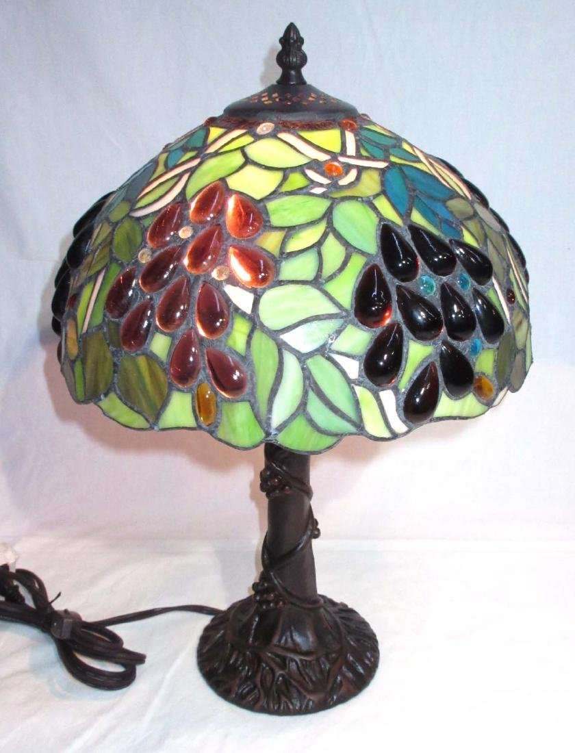 Modern Leaded Glass Lamp