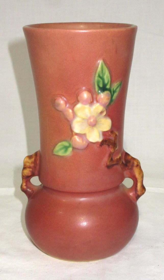 Roseville Apple Blossom Vase 381