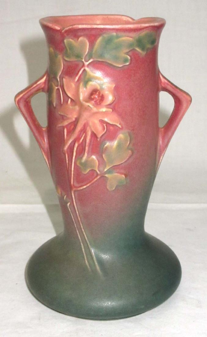 Roseville Columbine Vase 13-6
