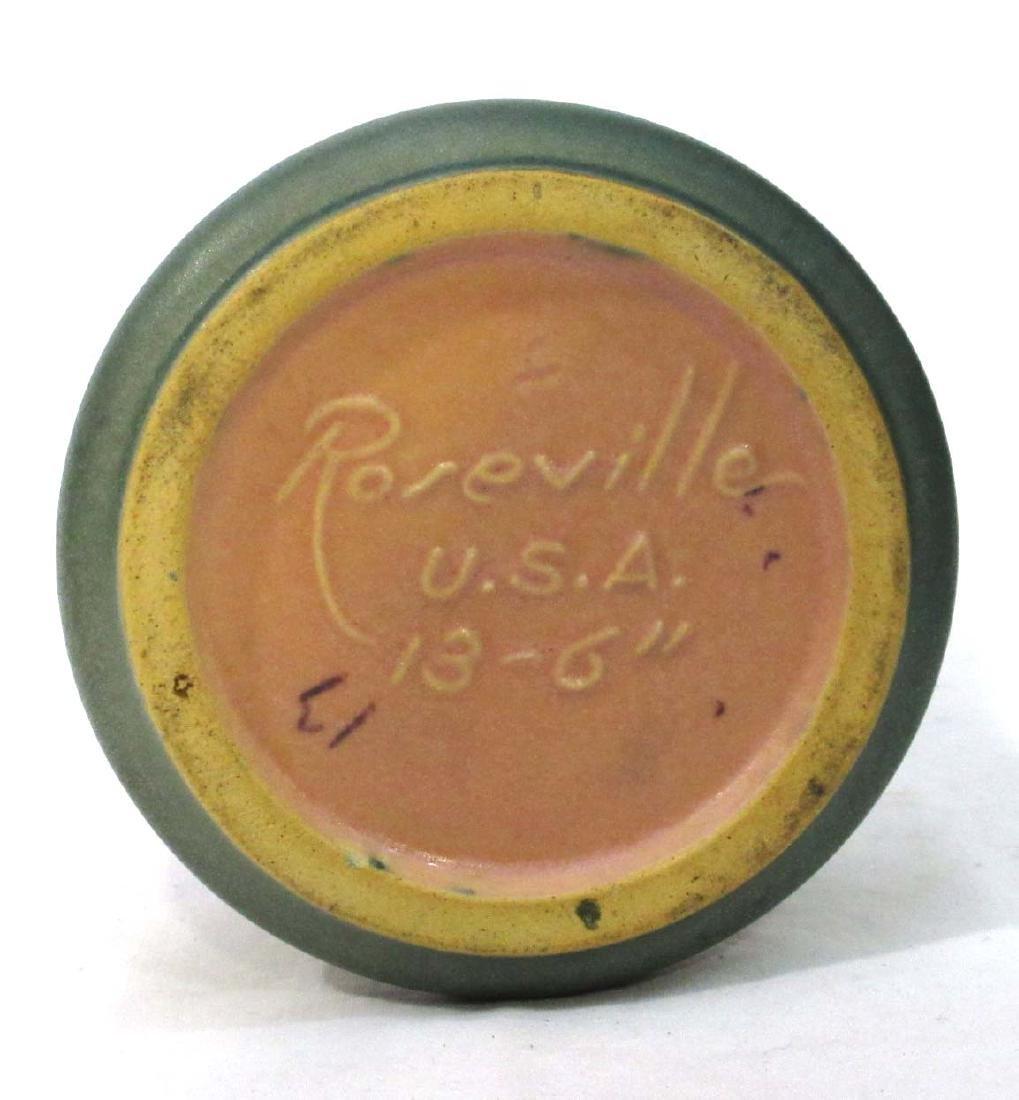 Roseville Columbine Vase 13-6 - 3
