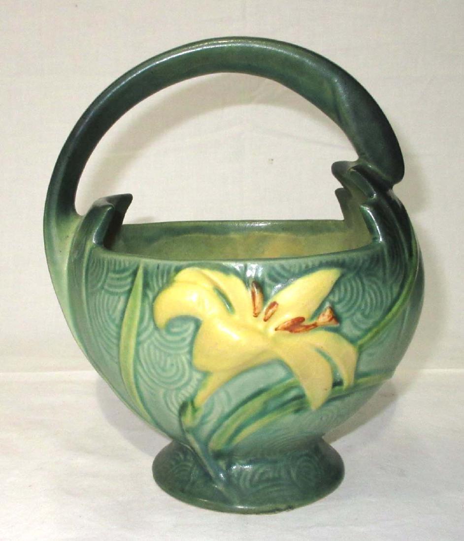 Roseville Zephyr Lily Basket 393-7 - 2