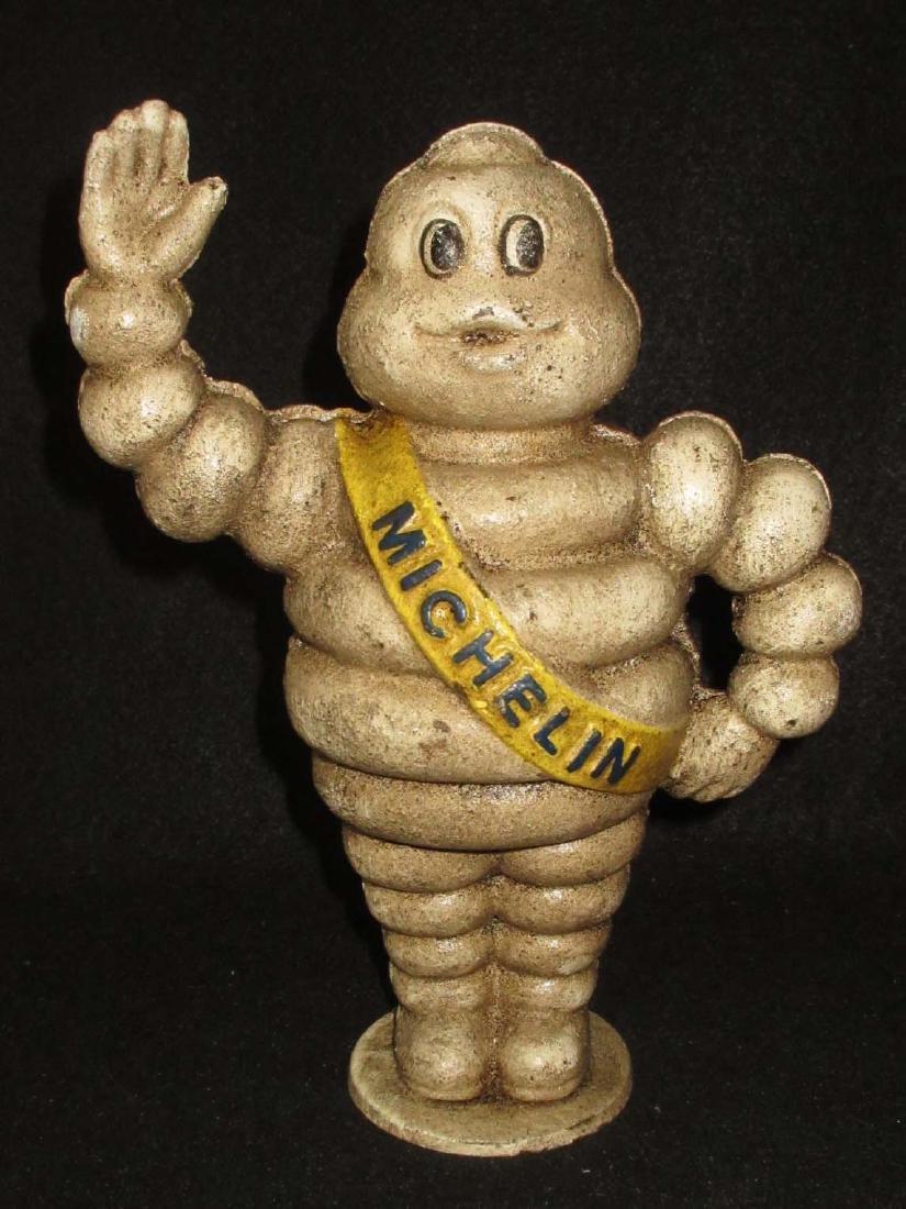 Modern Cast Iron Michelin Man Bank