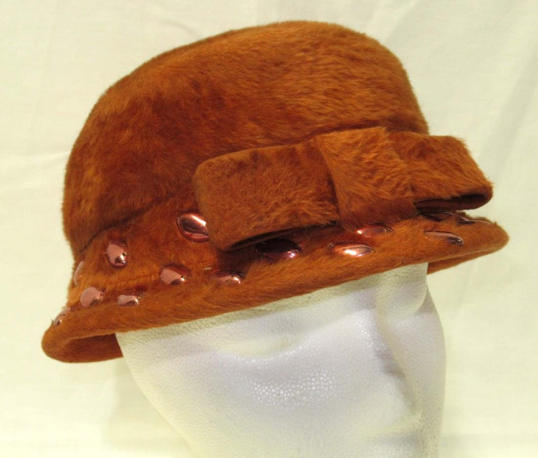 Originals by Michael Terre Burnt Orange Fur Felt Hat