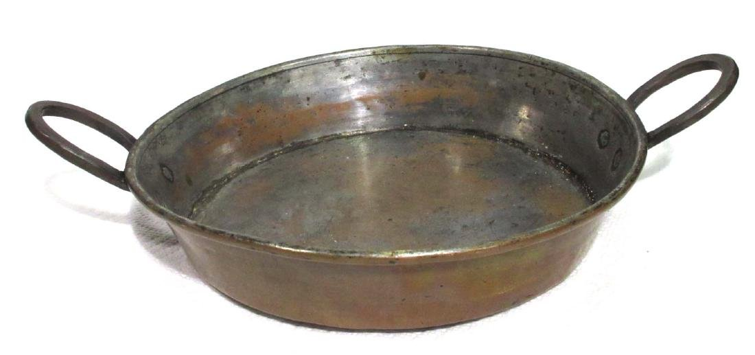 Early Hammered Copper Pan