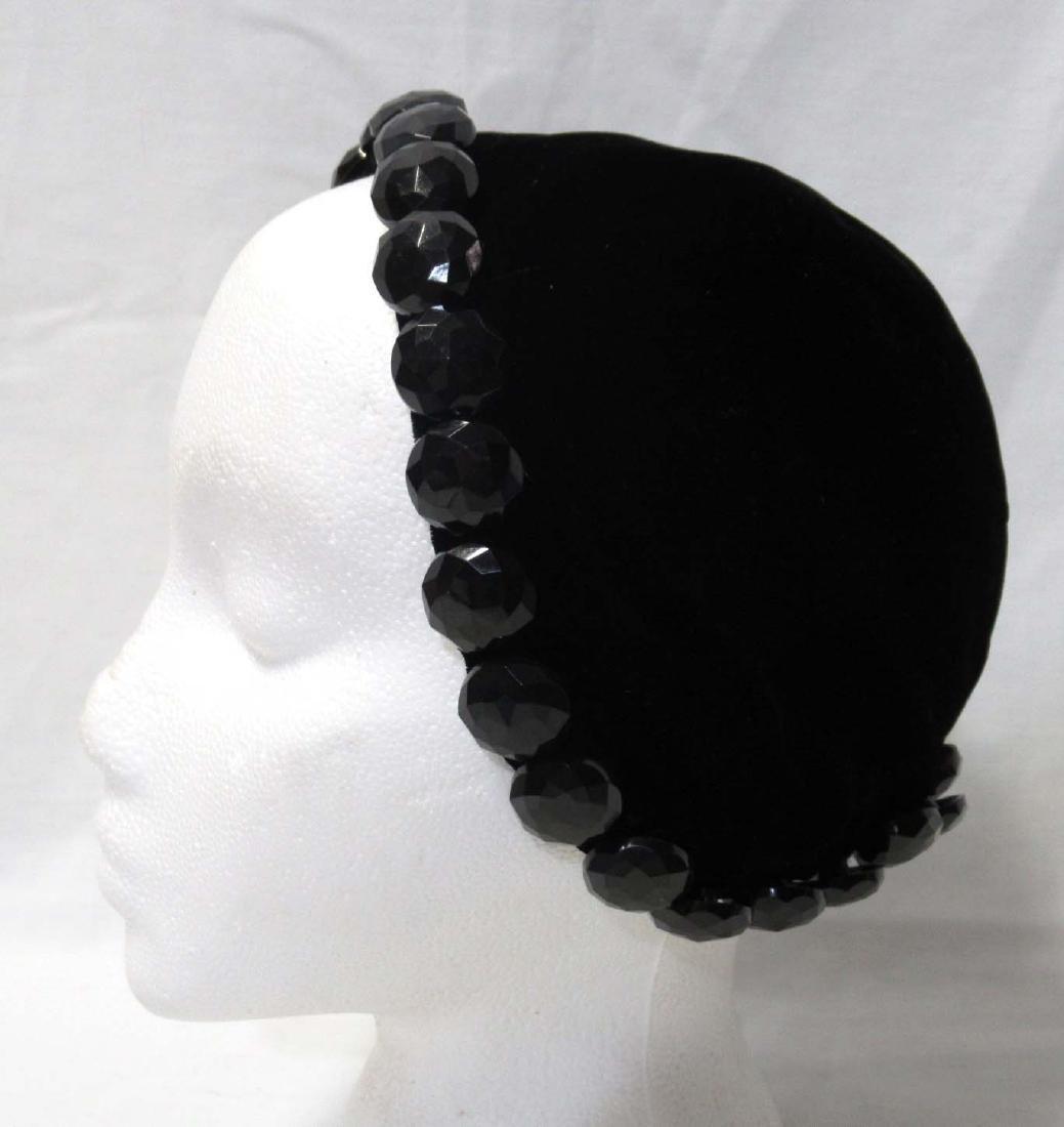 Stix Baer & Fuller/ SUZY Black Velvet Cap