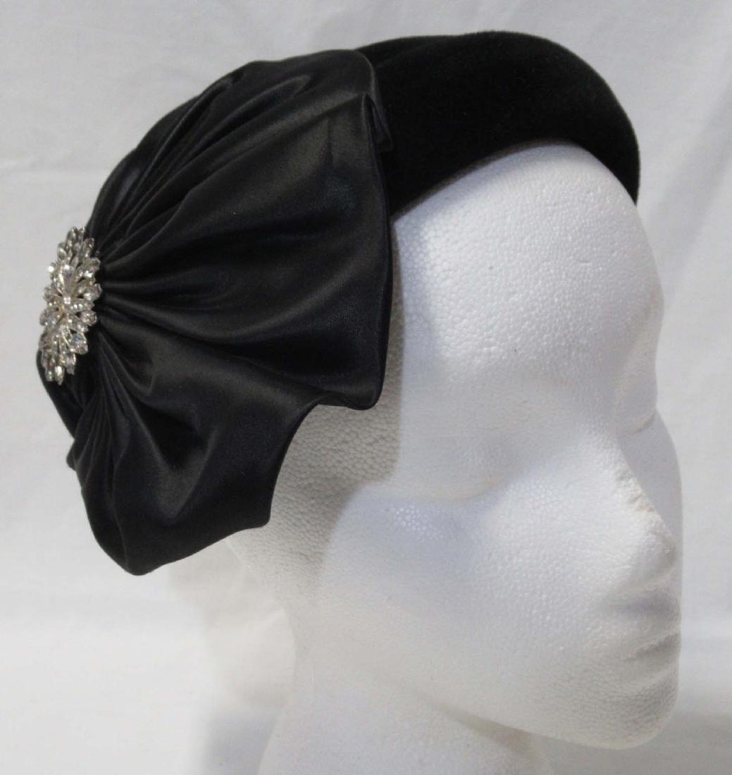 Genuine Black Velour Fur Striking Hat