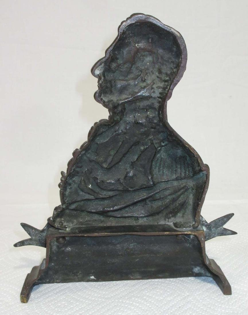 Bronze Cast Wellington Doorstop - 2