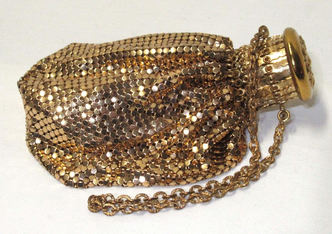 Whiting & Davis Gate Top Gold Armor Mesh Bag