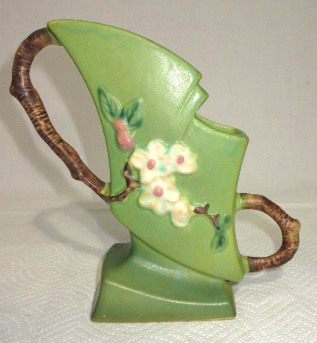 Roseville Apple Blossom Fan Vase 373-7 - 2