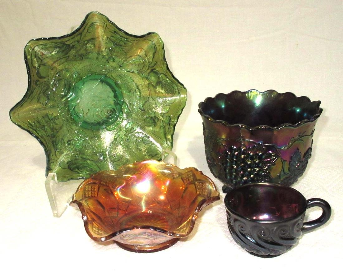 4pc Carnival Glass