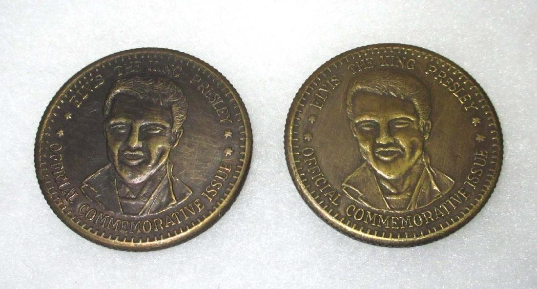 2 Elvis Commemorative Tokens