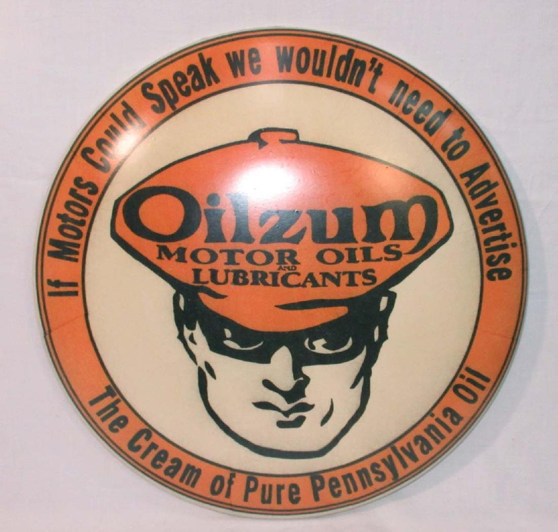 Modern Oilzum Button Sign