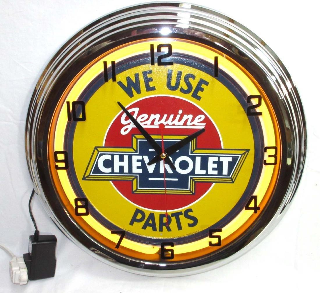 Modern Cherry Neon Clock
