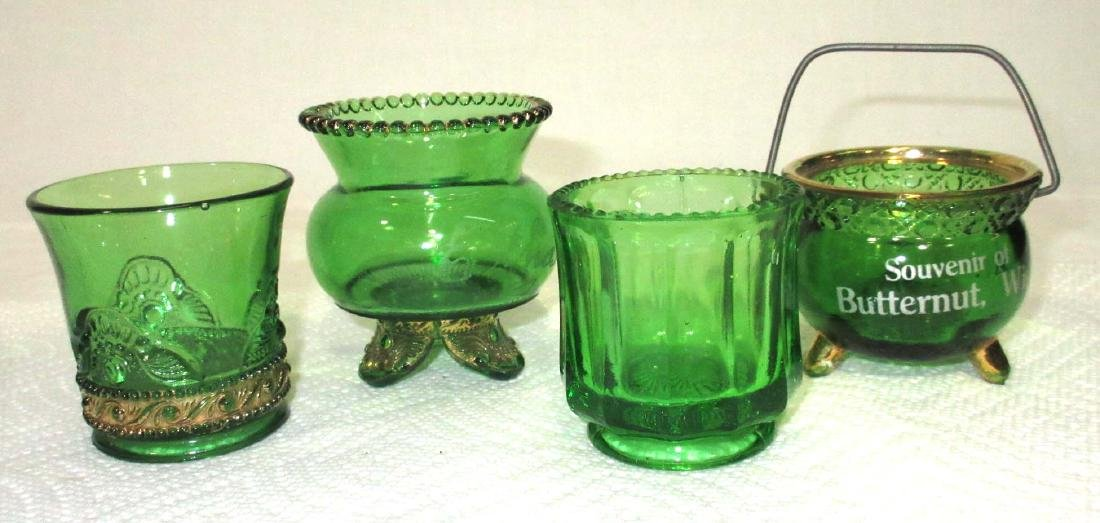 3 Green Riverside Glass Toothpicks