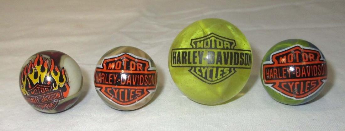 4 Harley Davidson Marbles
