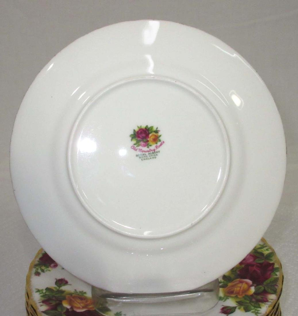 "8pc Royal Albert ""Old Country Rose"" Plates - 2"