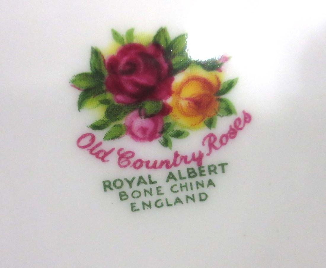 "8pc Royal Albert ""Old Country Rose"" Plates - 3"